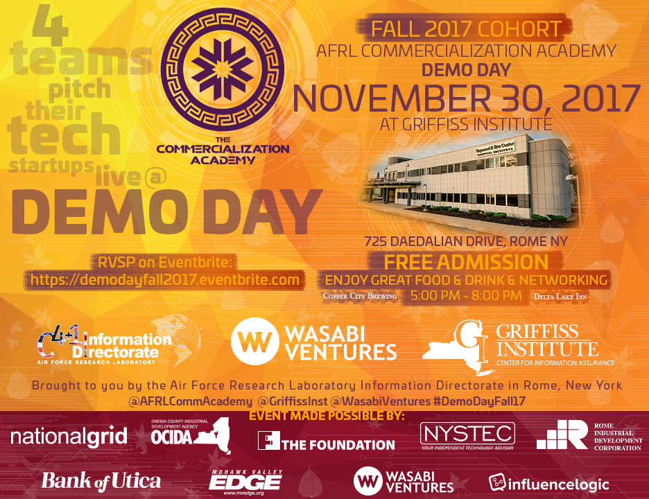 AFRL Commercialization Academy Fall 2017 Demo Day