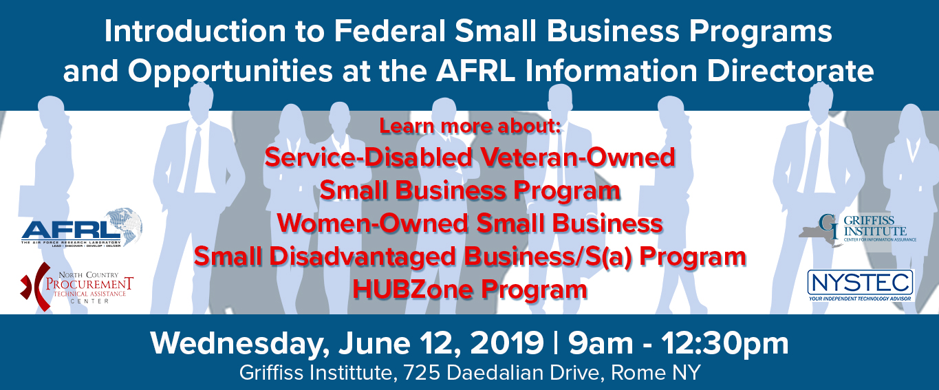 Intro to Federal Small Business Programs and Opportunities at the AFRL