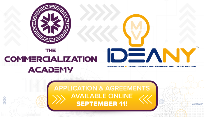 Commercialization Academy & IDEA NY: Apply Online Tuesday, September 11