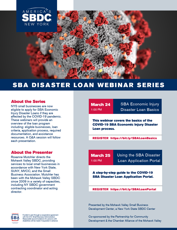 Free Webinar Series: SBA Disaster Loans for Small Businesses