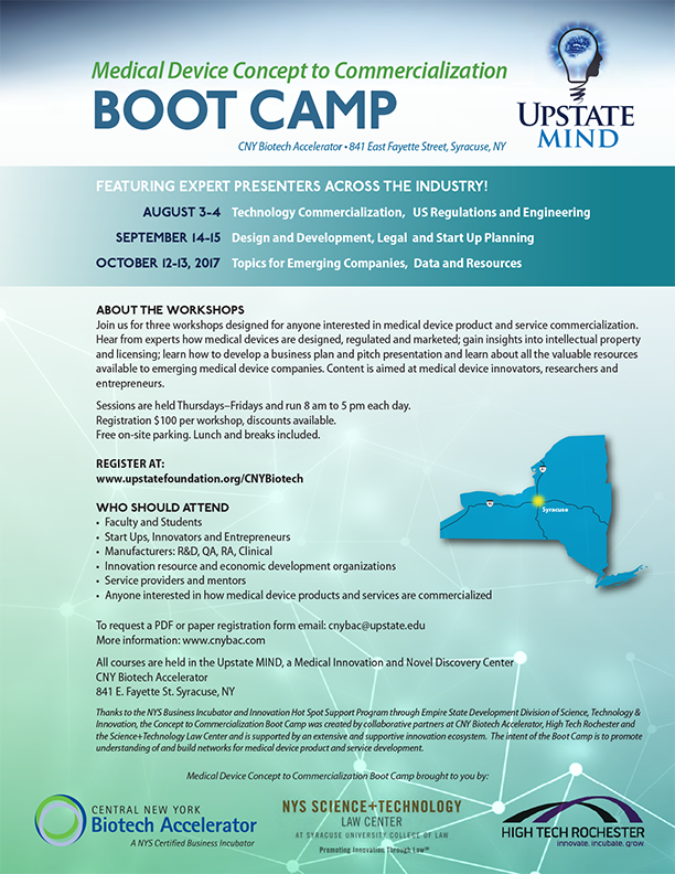 Medical Device Concept to Commercialization BOOT CAMP