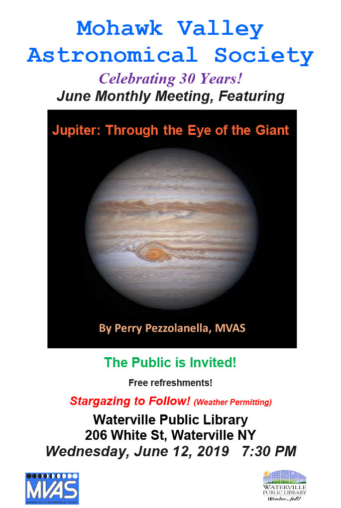 Mohawk Valley Astronomical Society June Meeting