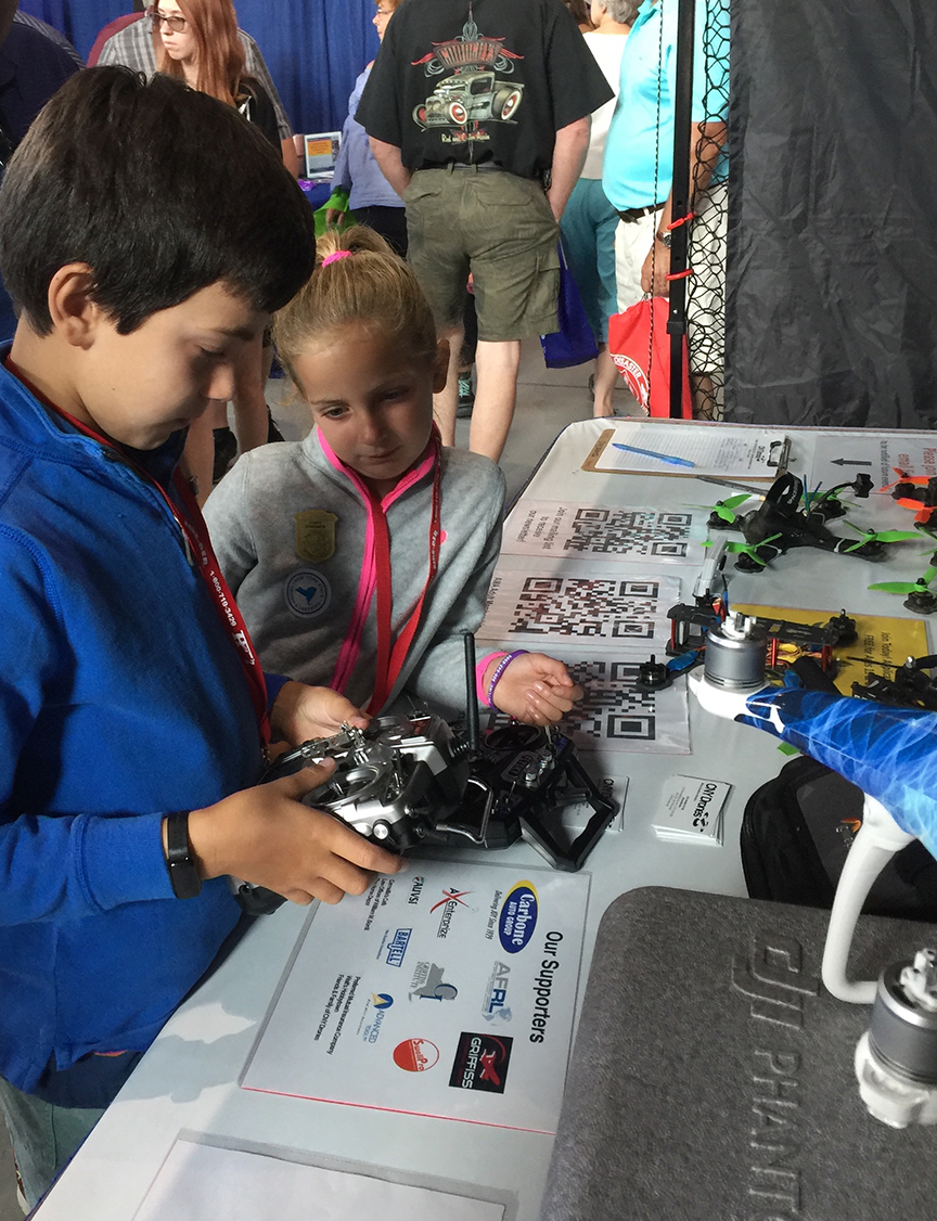 Kids and drone controllers