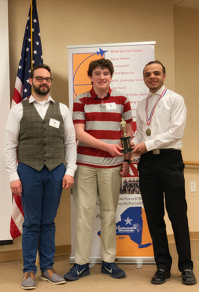 Second Place: (L-R) Teacher, Christopher Snell; and students, Ryan Janis and John Tofani, Frankfort-Schuyler Central School.